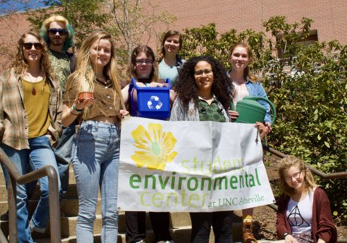 UNC Asheville's EcoReps posing together